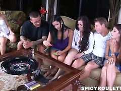 Tanner and Alexis Capri play Spicy Roulette game with their
