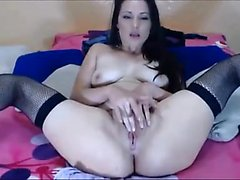 Teen euro amateur uses dildo to masturbate