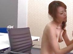 Hot office porn experience along Maki Hojo