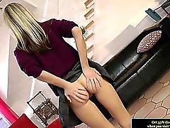 British teen schoolgirl amateur in stockings