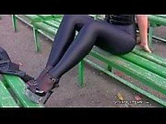 Девушки спандекса леггинсах Россиею колготки