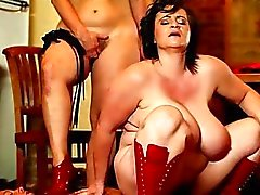 Painful & cock-controling BBW femdom action