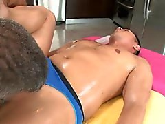 Gay hunk likes to get his anal tunnel screwed