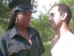 Eben Polizeibeamter Mädchen verdammt weißen Schwanz