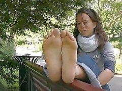 Nizza Costa sporchi I piedi delle suole Feticismo dei piedi