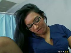 Doctor and nurse Shazia Sahari have oral sex at wo