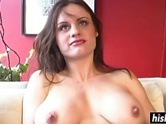 One cock can satisfy a brunette babe
