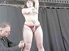 Amateur bondage of Elisa