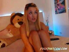 Sexy Strand Babe arbeitet die Webcam