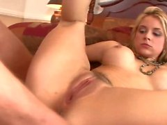 Feeling hungry? How about some of Sarah Vandella's sloppy creampie?
