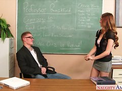 Sexy coed Samantha Hayes fuck in classroom