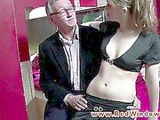 Real dutch whore sucks old mans cock