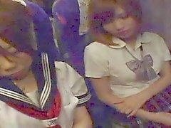 Cum on japanisch Schul ( Nachtbus )