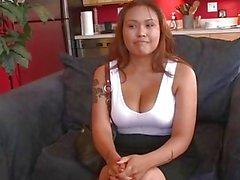 Asian Chubby Girl Harley Big Boobs Sucking Cock Deep Monster Facial BBW