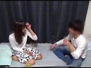 Japanese tart uses her big boobs