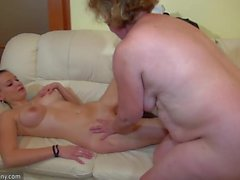OldNanny Fat mature and young pretty girl