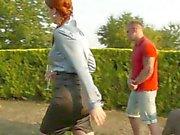 Kinky ginger spunk pee