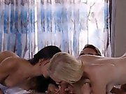 Threesome full of beautiful people enjoy great copulate