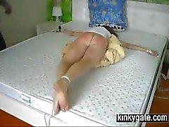 Extreme hard spanking on nice Ass Nadja
