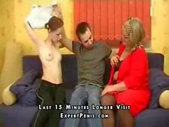 Mature Mother Teaches Son Sex