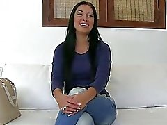 Sweet euro chick Rosy fucked on couch