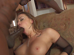 Curvaceous Chanel Preston still knows how to ride the dark rod