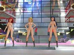 3D MMD fliegen - Liebe leben! Schule Idol Projekt (Eli, Umi & Maki)