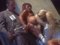 Jessica Drake and Kaylani Lei get their holes dicked in hot threesome