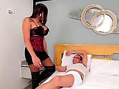 Tgirl cockriding in stockings