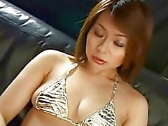 Pretty Japanese girl sexy cunt creampied