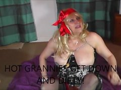 creaming up granny's dangly bits