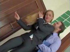 blonde office sex