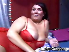 Orgy fun with fat and chubby amateurs