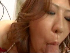 Ai Yuumi has her pussy eaten by a man in tiger striped undie