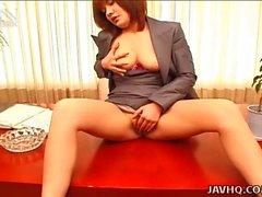 Seksi bir Büro bayan Anna Yumisaki yazın Mastürbasyon