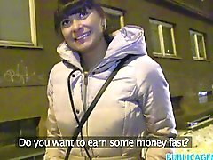 PublicAgent Hot Czech babe fucks guy outside