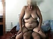 Russian Granny Secretly Filmed Fucking