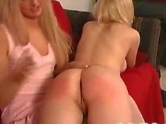 Spanking strap-on Lesbians