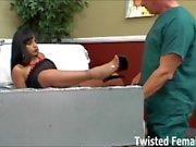 Ice La Fox punishes her male nurse