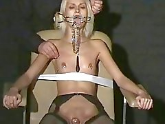 Sexy blonde Wynters extreme piercing punishments