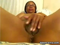 Naughty Ebony Grandma