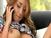 Extremely horny phone sex on the bed