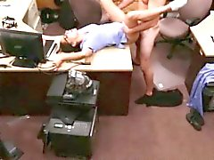 Pawnshop backroom fuck with a real nurse