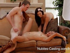 Nubiles Castings - Cutie de l'étudiante s'efforce hardcore porn