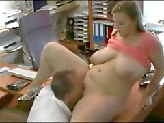 Fucking my horny Fat BBW Married Secretary at the office