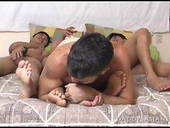 Papa et les trois minets