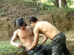 Hot Latino Military Bareback Sex