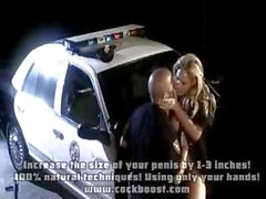 Blonde police woman is getting licked and fucked by partner