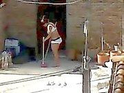 Spiante prossimo Cleaning - Domestiche asino Intimo Voyeur