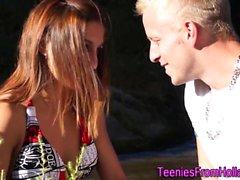 Bikini klädda nederländska tonåring